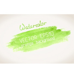 Green watercolor blobs vector
