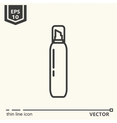 Hairdressing tools Icons series Hair foam vector