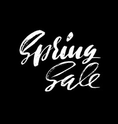 Handwritten lettering spring sale hand drawn vector
