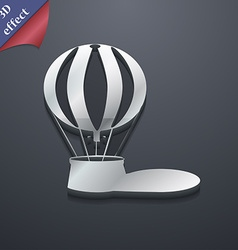 Hot air balloon icon symbol 3D style Trendy modern vector image