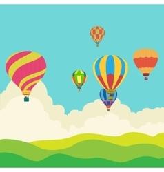 Hot air balloon in the sky vector image