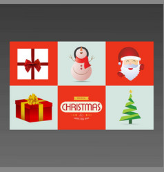 icon and typography chrismtas vector image