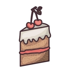 Isolated cake of bakery design vector