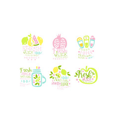 juice original product logo collection natural vector image
