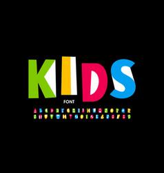 kids style font design playful alphabet letters vector image