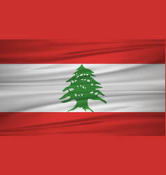 lebanon flag flag of lebanon blowig in the wind vector image