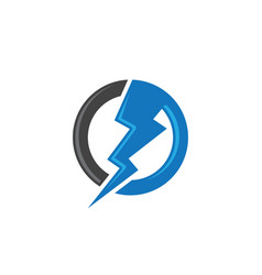 Lightning logo template icon design vector