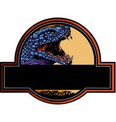logo cobra head - color design vector image