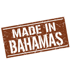 Made in bahamas stamp vector
