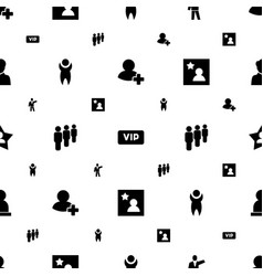member icons pattern seamless white background vector image