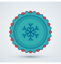Merry Christmas Badge vector