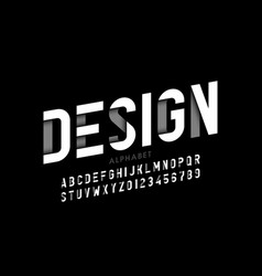 modern style font alphabet letters and numbers vector image