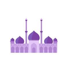 Mosque building purple color vector