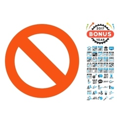 Not Available Icon with 2017 Year Bonus Pictograms vector