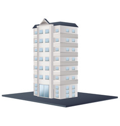 Office building painted in white vector