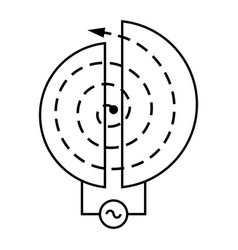 particle accelerator vector image