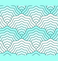 pastel teal colored scales seamless pattern fish vector image
