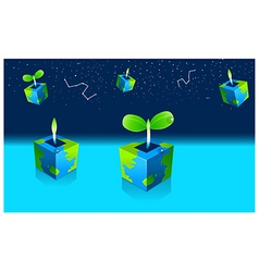 Potted Seedling plant and astrology sign in sky vector