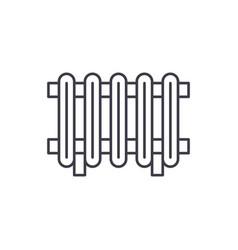 radiator line icon concept radiator linear vector image
