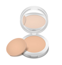 realistic detailed cosmetic product face powder vector image