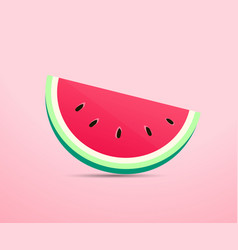 Realistic water melon background fruit concept vector