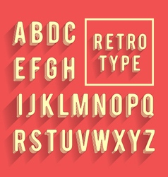 Retro poster alphabet vector
