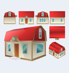 set a house in with different types design vector image