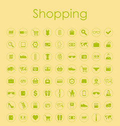 Set of shopping simple icons vector