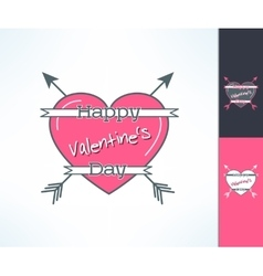 Set of valentines hipster design with vector image