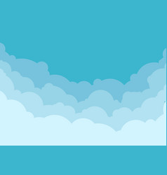 sky and cloud background vector image
