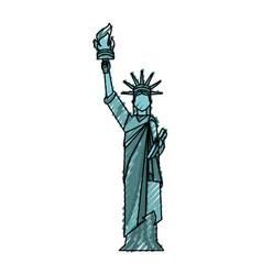 Statue of liberty cartoon vector