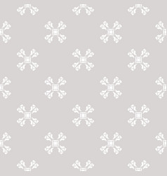 Subtle seamless pattern with carved crosses vector