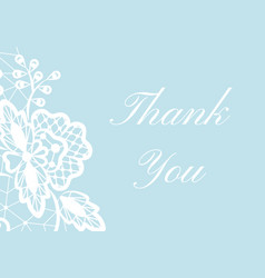 Thank you lace card vector