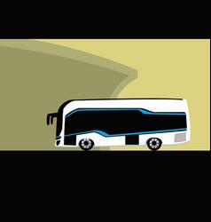tour bus service bus travel around world vector image