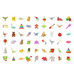 toys icon set cartoon style vector image