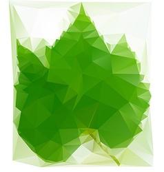 Triangulated Wine Leaf vector