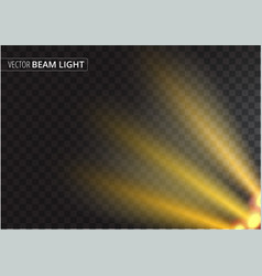ufo light beam isolated on transparent background vector image