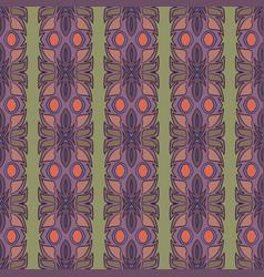 Vintage ethnic seamless flower pattern vector