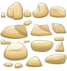 cartoon stones set vector image vector image