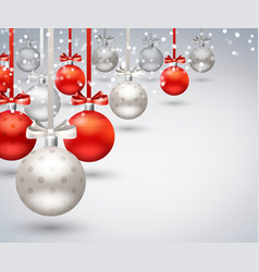 christmas balls abstract background vector image vector image
