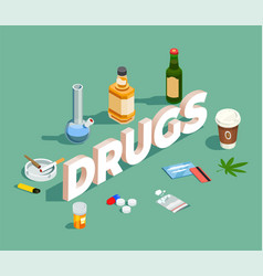 drugs isometric composition vector image vector image