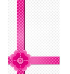 gray background with pink stripes and a flower vector image vector image