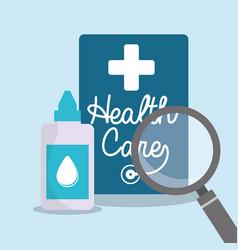 health care eyedropper bottle search vector image