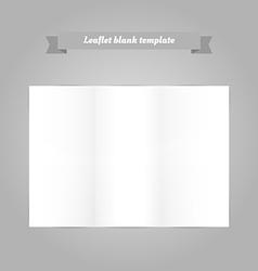 Leaflet blank template vector image