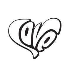 lettering love creative text logo element wedding vector image vector image