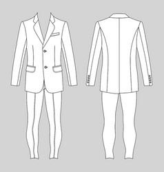 mans suit jacket skinny jeans vector image