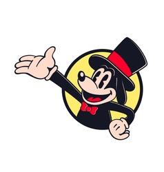 Retro cartoon character presenter showman vector image