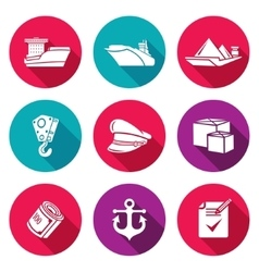 Sea craft icons set vector