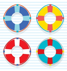 Set Of Colorful Lifebuoy vector image