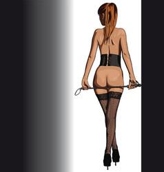 bdsm girl vector image